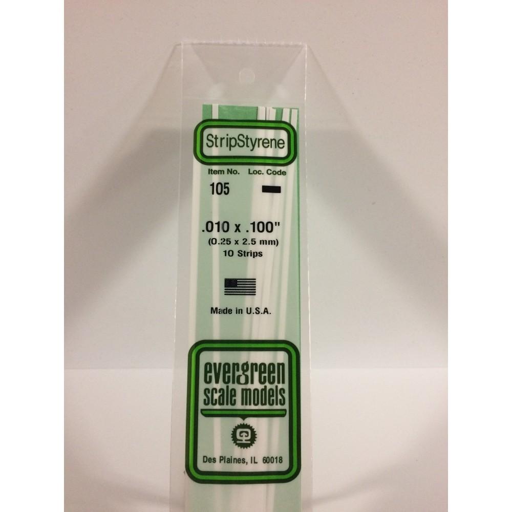 Baguette 0.25x2.5x350mm Ref : 105 - Evergreen