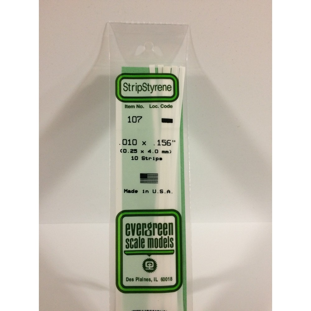 Baguette 0.25x4.0x350mm Ref : 107 - Evergreen