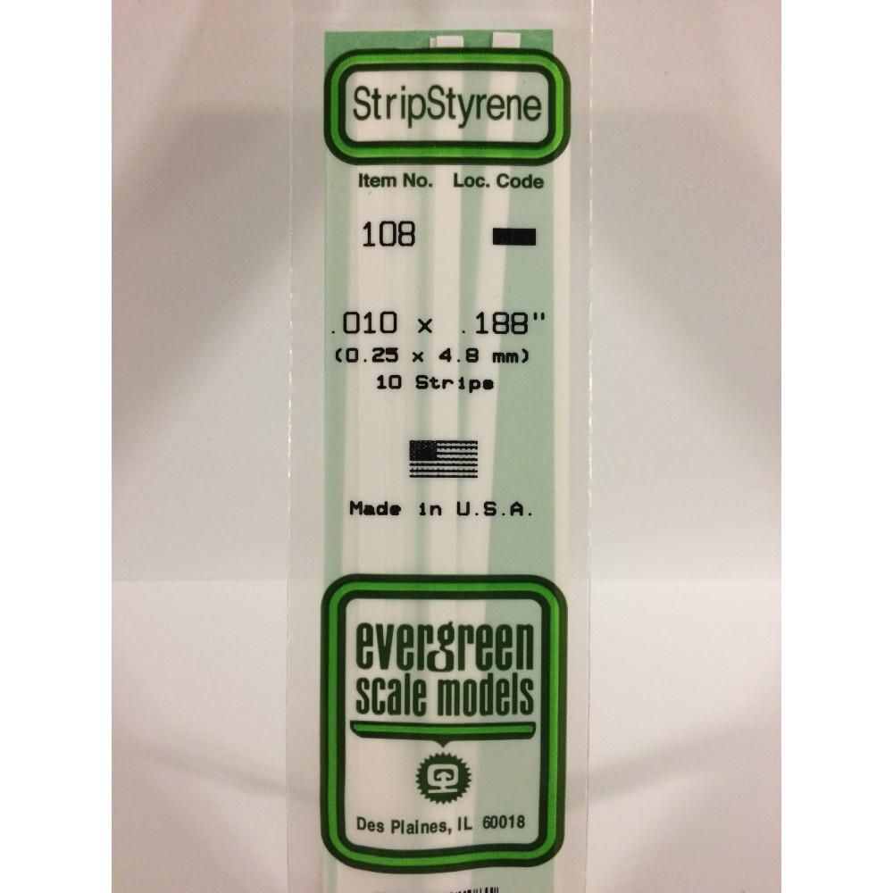 Baguette 0.25x4.8x350mm Ref : 108 - Evergreen