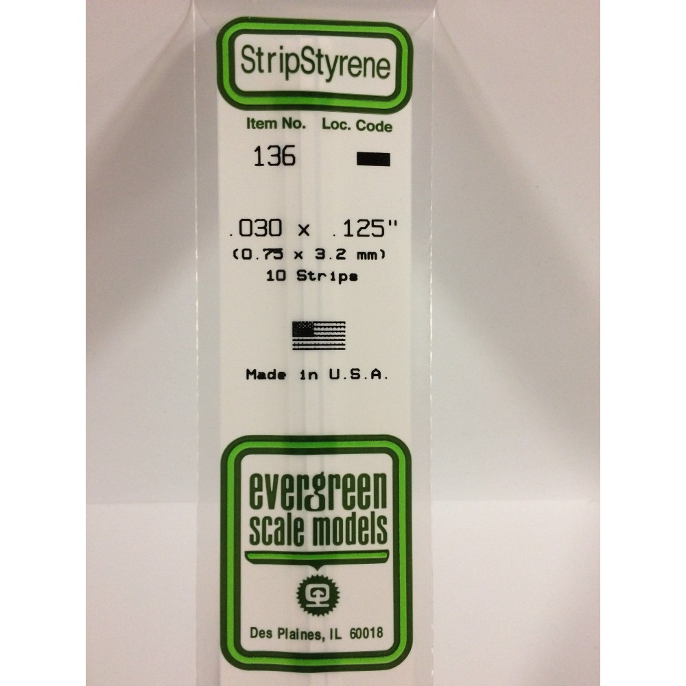 Baguette 0.75x3.2x350mm Ref : 136 - Evergreen