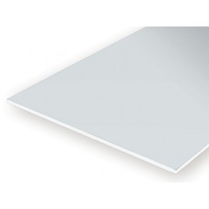 Plaque transparente Rouge lisse 0.25x150x300mm Ref : 9901 - Evergreen