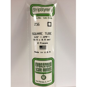 Tube carré 9.5x350mm Ref : 256 - Evergreen