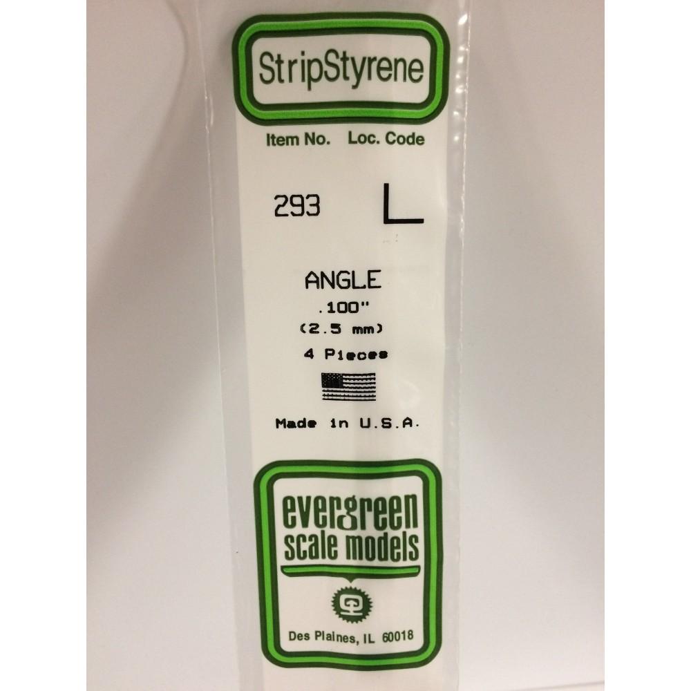 Profilé L 2.5x350mm Ref : 293 - Evergreen