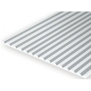 Plaque rainurée en V 1.0x3.2x150x300mm Ref : 4125 - Evergreen