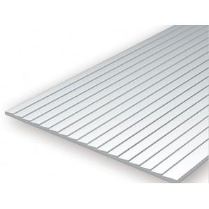 Plaque rainurée en escalier 1.0x2.0x150x300mm Ref : 4081 - Evergreen