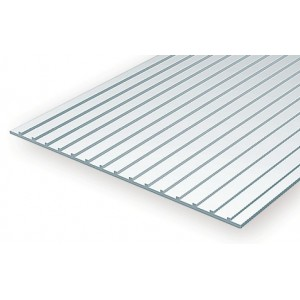 Plaque type bardage métallique 1.0x6.3x150x300mm Ref : 4522 - Evergreen