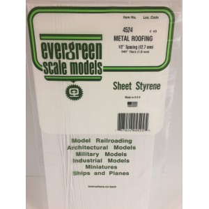 Plaque type bardage métallique 1.0x12.7x150x300mm Ref : 4524 - Evergreen