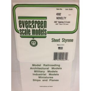 Plaque rainurée bardage en escalier 1.0x1.5x150x300mm Ref : 4062 - Evergreen