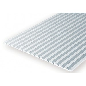 Plaque rainurée bardage en escalier 1.0x2.1x150x300mm Ref : 4083 - Evergreen