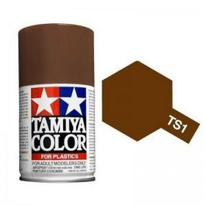 Peinture bombe Rouge Brun mat TS1 Tamiya