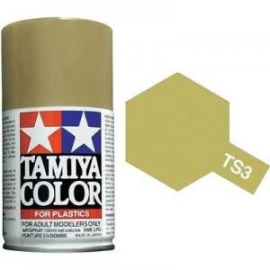 Peinture bombe Jaune sombre mat TS3 Tamiya