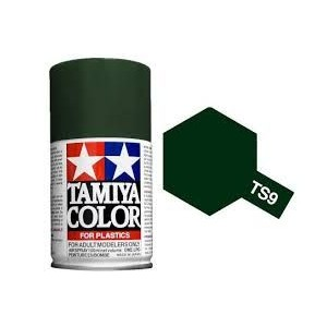 Peinture bombe Vert Anglais brillant TS9 Tamiya