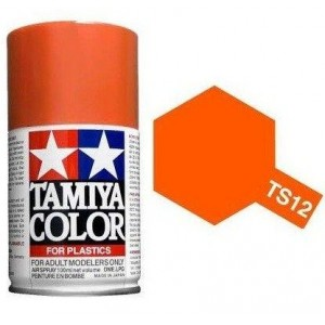 Peinture bombe Orange brillant TS12 Tamiya
