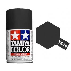 Peinture bombe Noir brillant TS14 Tamiya