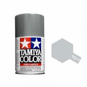 Peinture bombe Aluminium brillant TS17 Tamiya