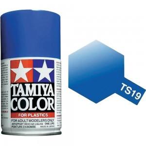 Peinture bombe Bleu Métal brillant TS19 Tamiya