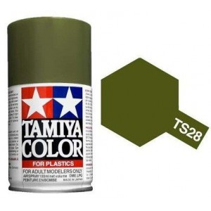 Peinture bombe Vert Olive mat TS28 Tamiya