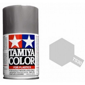 Peinture bombe Aluminium brillant TS30 Tamiya