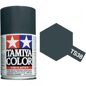 Peinture bombe Gris Acier brillant TS38 Tamiya