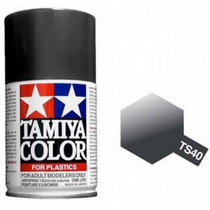 Peinture bombe Noir Métal brillant TS40 Tamiya