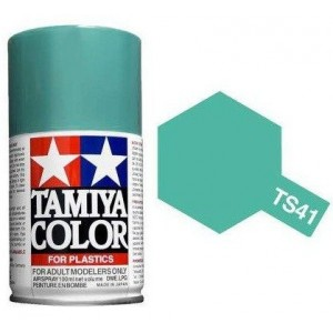 Peinture bombe Bleu Corail brillant TS41 Tamiya