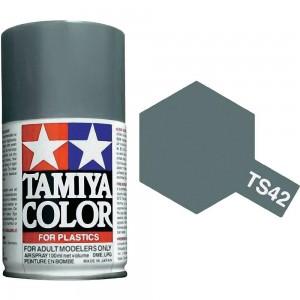 Peinture bombe Gris Clair Métal brillant TS42 Tamiya