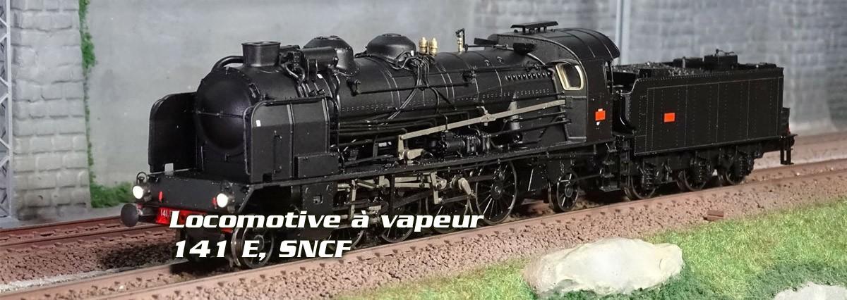 Ree Modeles MB-128.S Locomotive à vapeur 5-141 E 234, SNCF, GRENOBLE, sonore, fumée