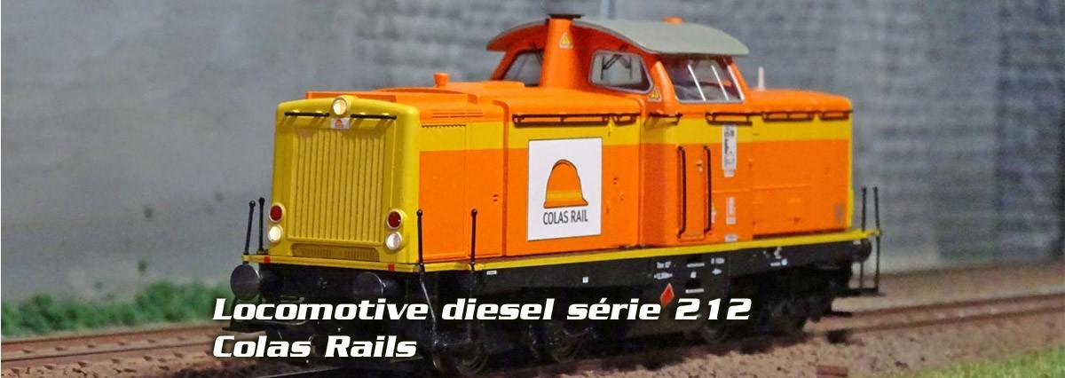 Trix 22842 Locomotive diesel série 212, Colas Rails, digitale sonore