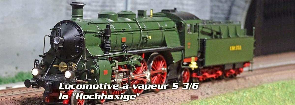 """Trix 22403 Locomotive à vapeur S 3/6, la """"Hochhaxige"""", digitale sonore"""