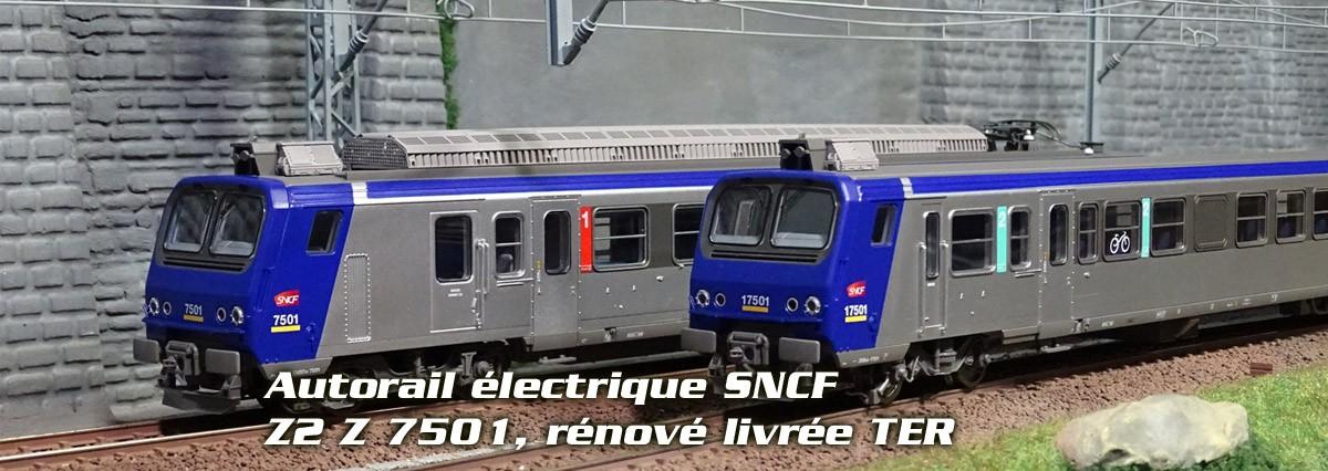 Autorail électrique SNCF, Z2 Z 7501, rénové livrée TER
