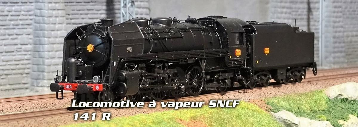 Jouef Locomotive à vapeur SNCF, 141 R 995, noire