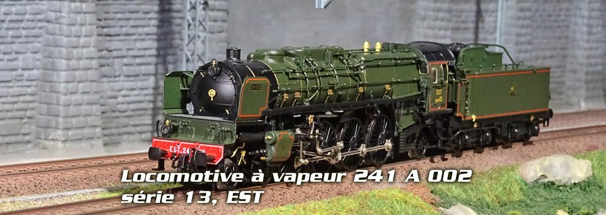 Locomotive à vapeur 241 A 002, série 13, EST, Trix Marklin