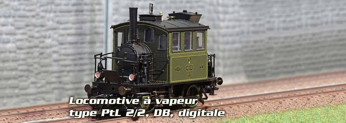 Trix 22721 Locomotive à vapeur type PtL 2/2, DB, digitale