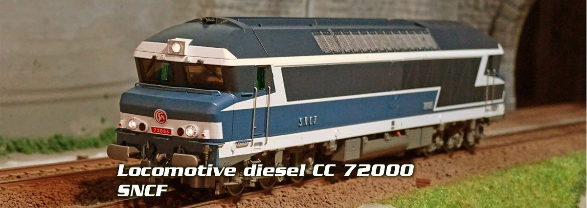 Roco 73004 73005 Locomotive diesel CC 72000, SNCF
