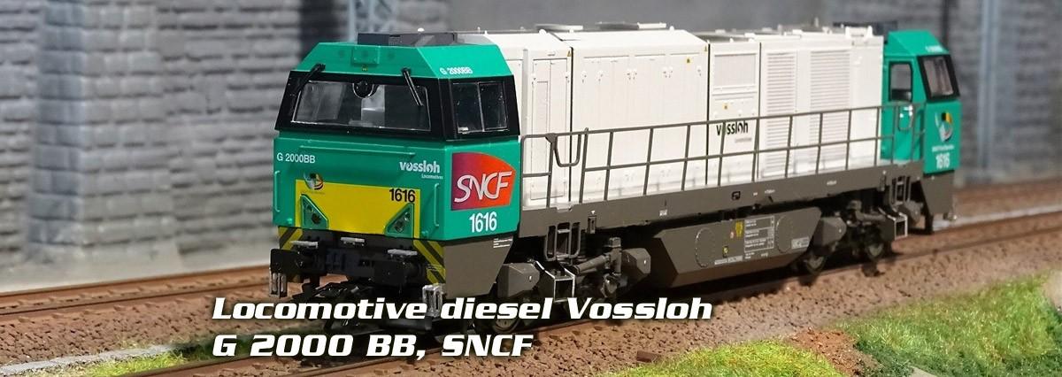 Locomotive diesel Vossloh G 2000 BB, SNCF