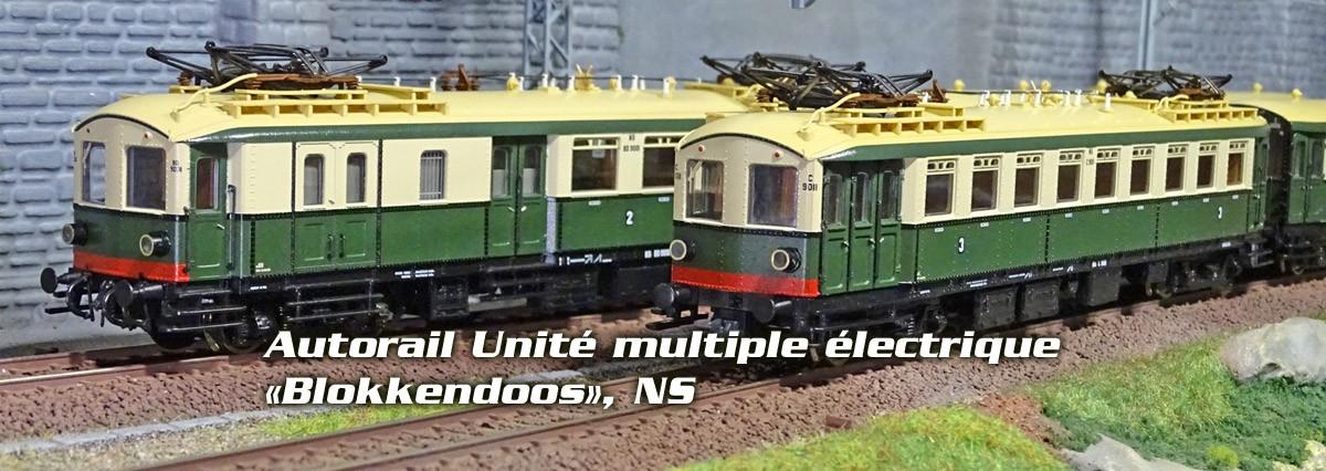 Roco 72064 72065 Autorail Unité multiple électrique «Blokkendoos», NS