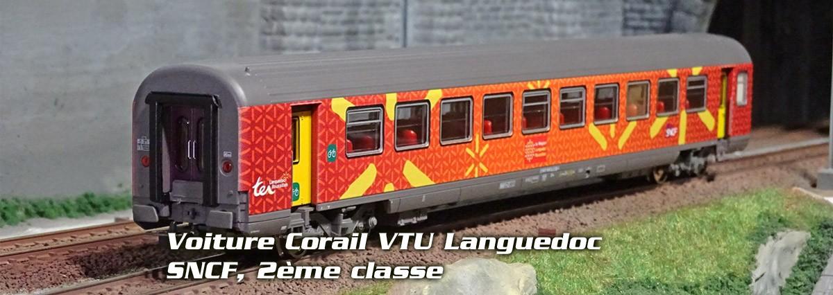 Piko 97091 Voiture Corail VTU Languedoc, SNCF, 2ème classe