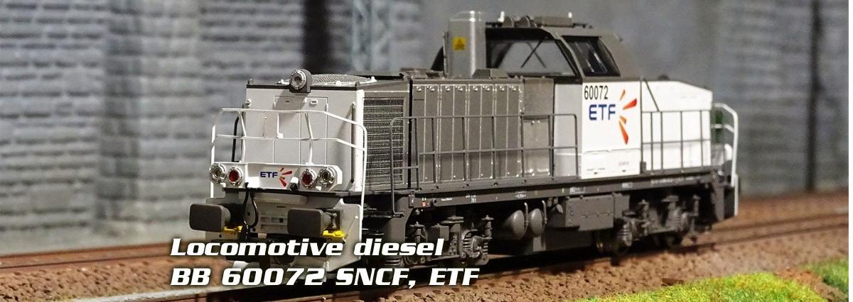 Locomotive diesel BB 60072 SNCF, ETF