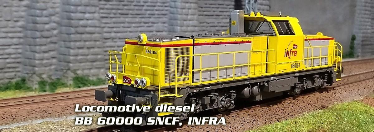 Piko 96473 Locomotive diesel BB 60000 SNCF, INFRA
