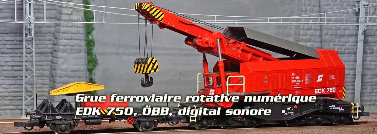 Roco 73036 Grue ferroviaire rotative numérique EDK 750, ÖBB, digital sonore