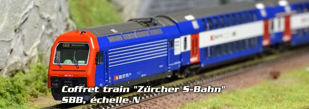 """Fleischmann 781902 Coffret train """"Zürcher S-Bahn"""", SBB, échelle N"""