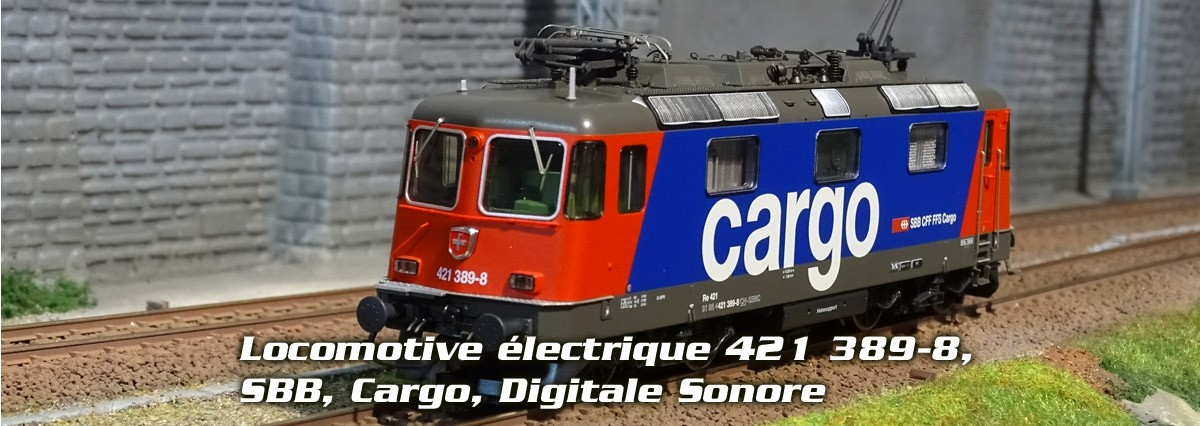 Roco 73257 Locomotive électrique 421 389-8, SBB, Cargo, Digitale Sonore
