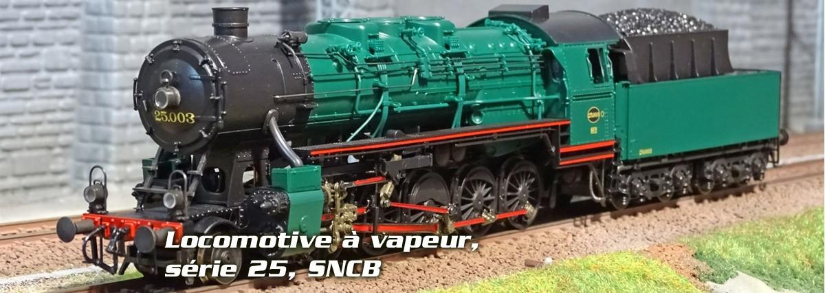 Locomotive à vapeur, série 25, SNCB