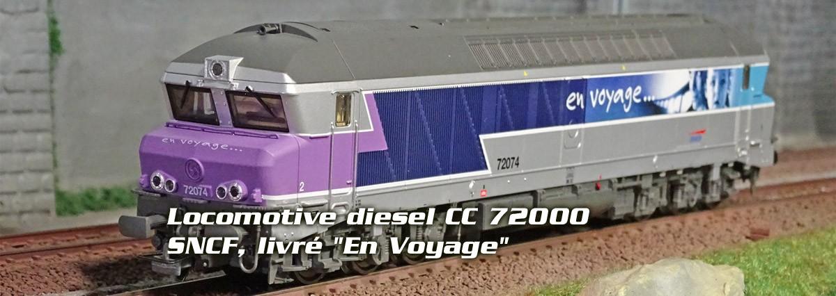 "Jouef HJ2601 Locomotive diesel CC 72000, SNCF, livré ""En Voyage"""