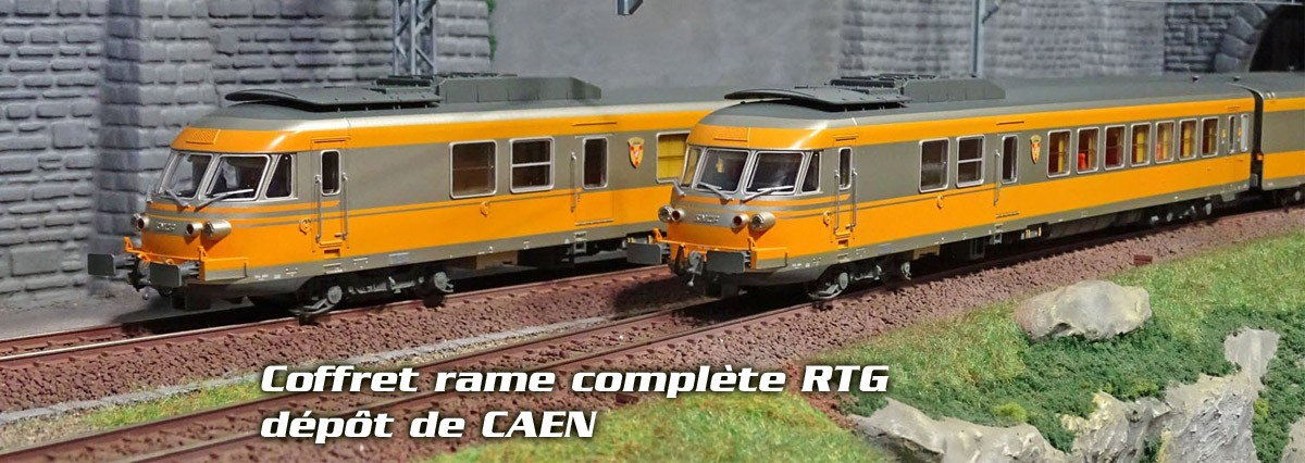 EPM E.22.15.02 Coffret rame complète RTG, gris métallisée et jaune bouton d'or, CAEN