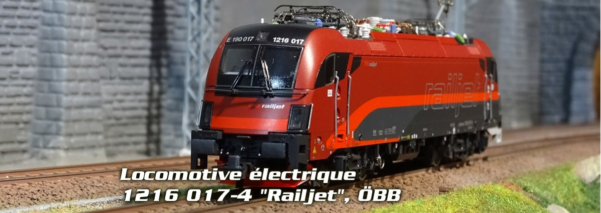"Roco 73247 Locomotive électrique 1216 017-4 ""Railjet"", ÖBB"