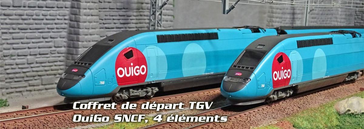 Jouef HJ1042 Coffret de départ TGV OuiGo SNCF, 4 éléments, gamme junior