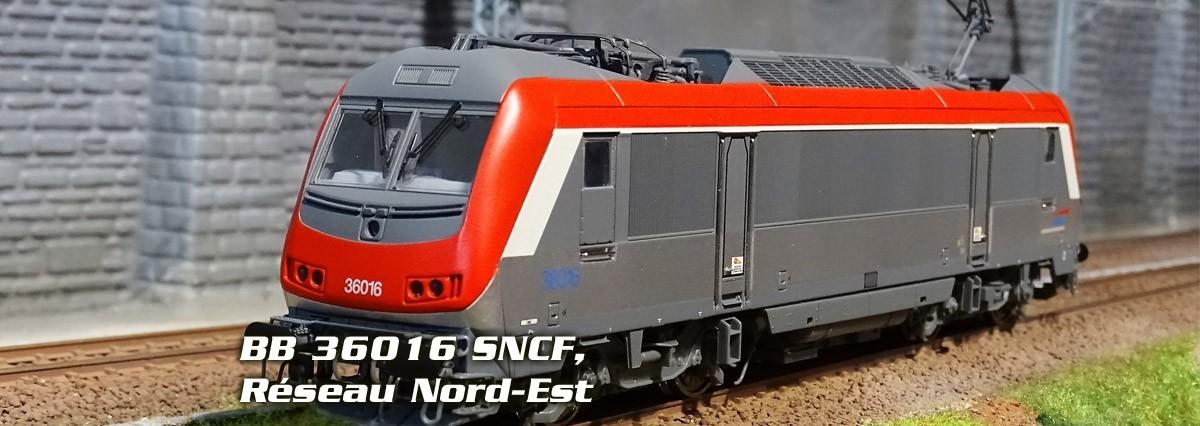 Locomotive électrique BB 36016 SNCF, Réseau Nord-Est