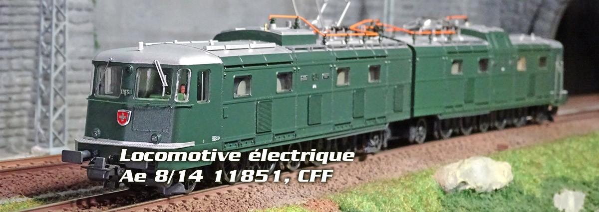 Roco 71813 Locomotive électrique Ae 8/14 11851, CFF